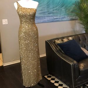 VINTAGE SCALA Beaded and Sequin Gown